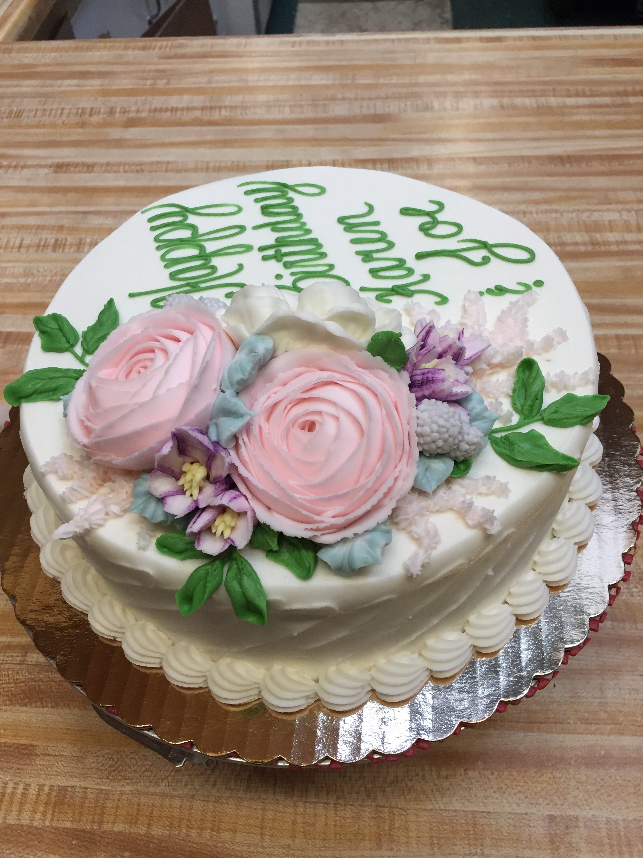 Beautiful Flower Cake 4