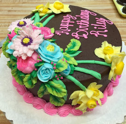 Assorted Flowers Chocolate Cake 29