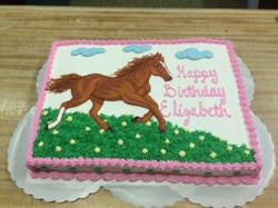 Birthday Cake w/ Horse 30