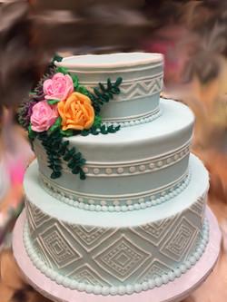 Blue Southwestern Cake