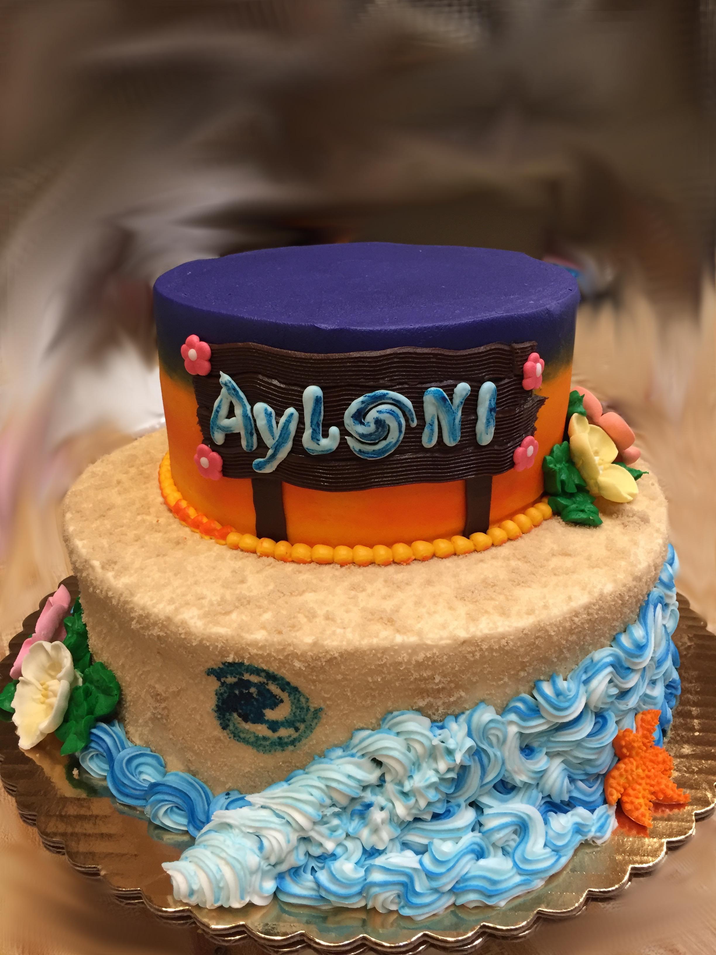 Moana Theme Cake 16