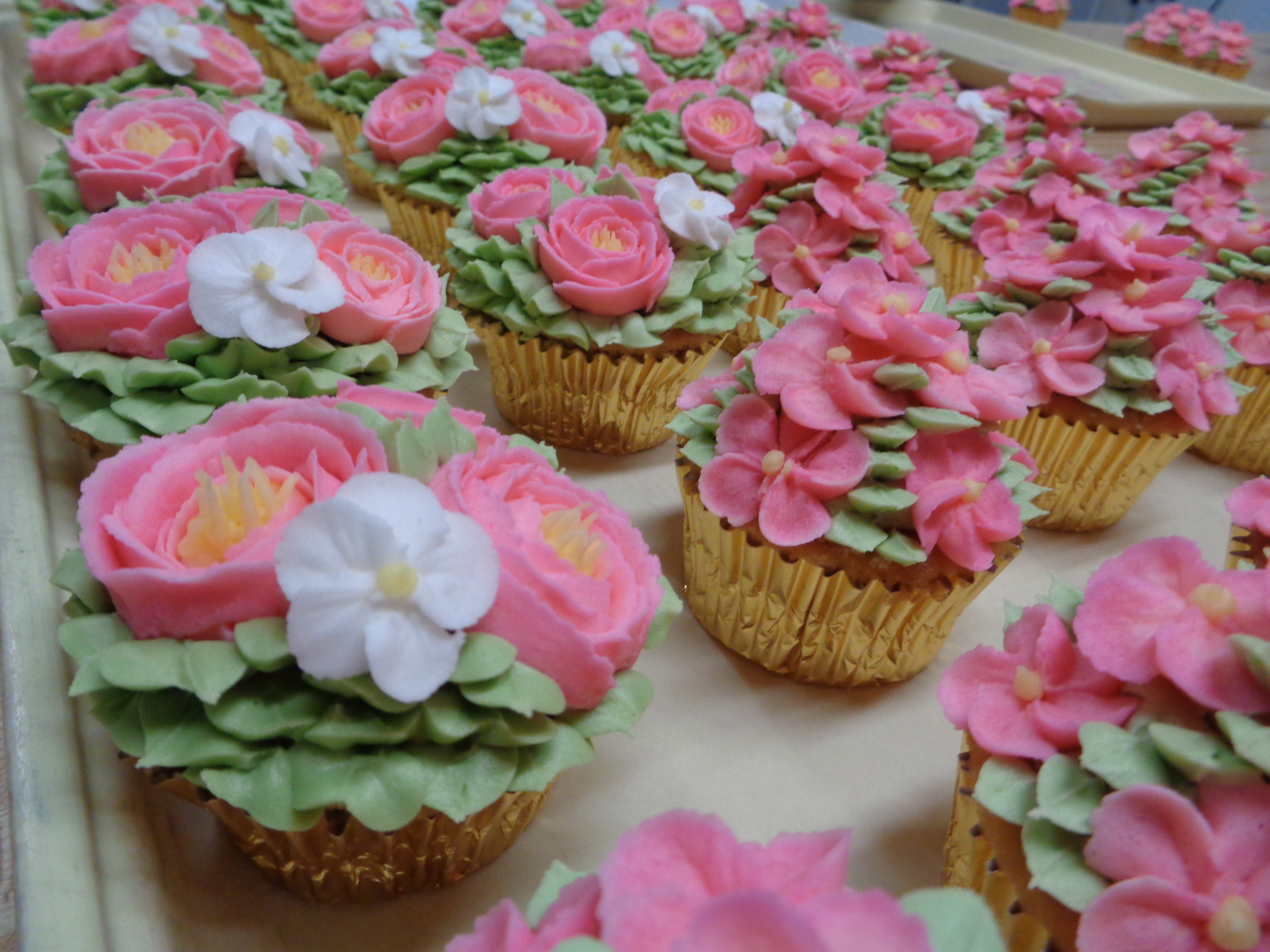 Pink Flower Cupcakes 7