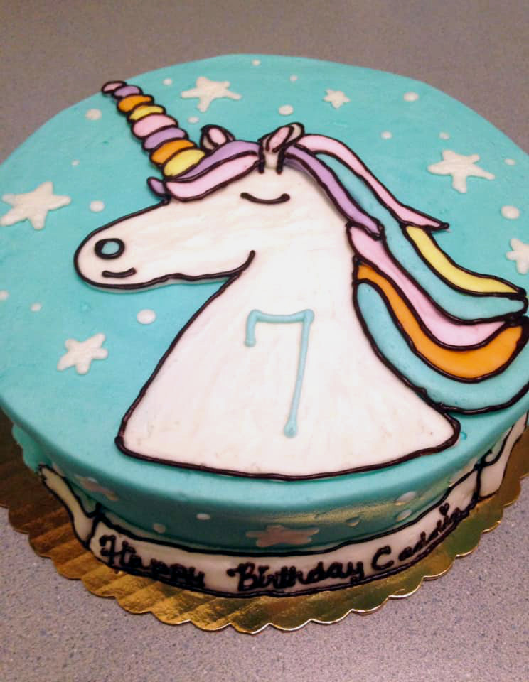 Blue Unicorn Cake 52
