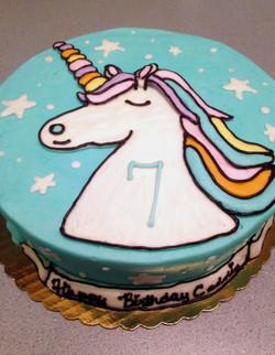 Blue Unicorn Cake 52