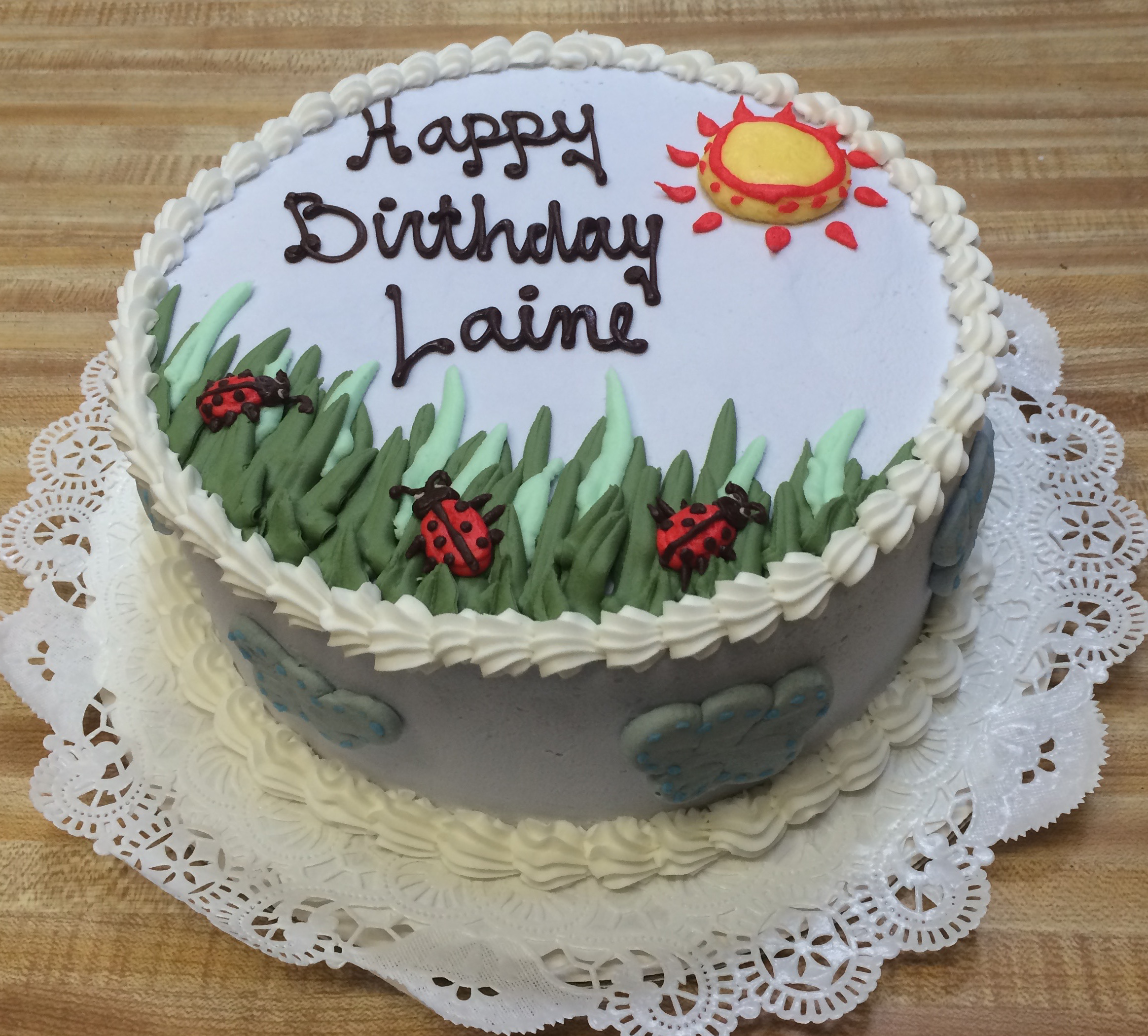 Lady Bug Birthday Cake 34