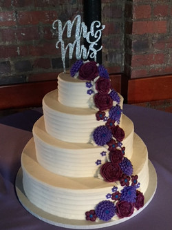 Fine Textured Lines Purple Cascade