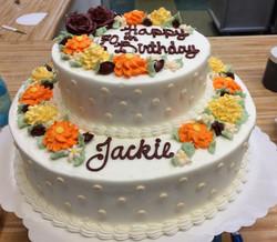 Fall Flower Cake 17