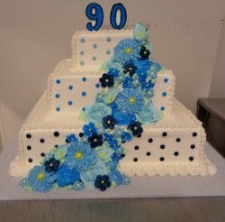 90th 3 tier Cascading Flowers 5