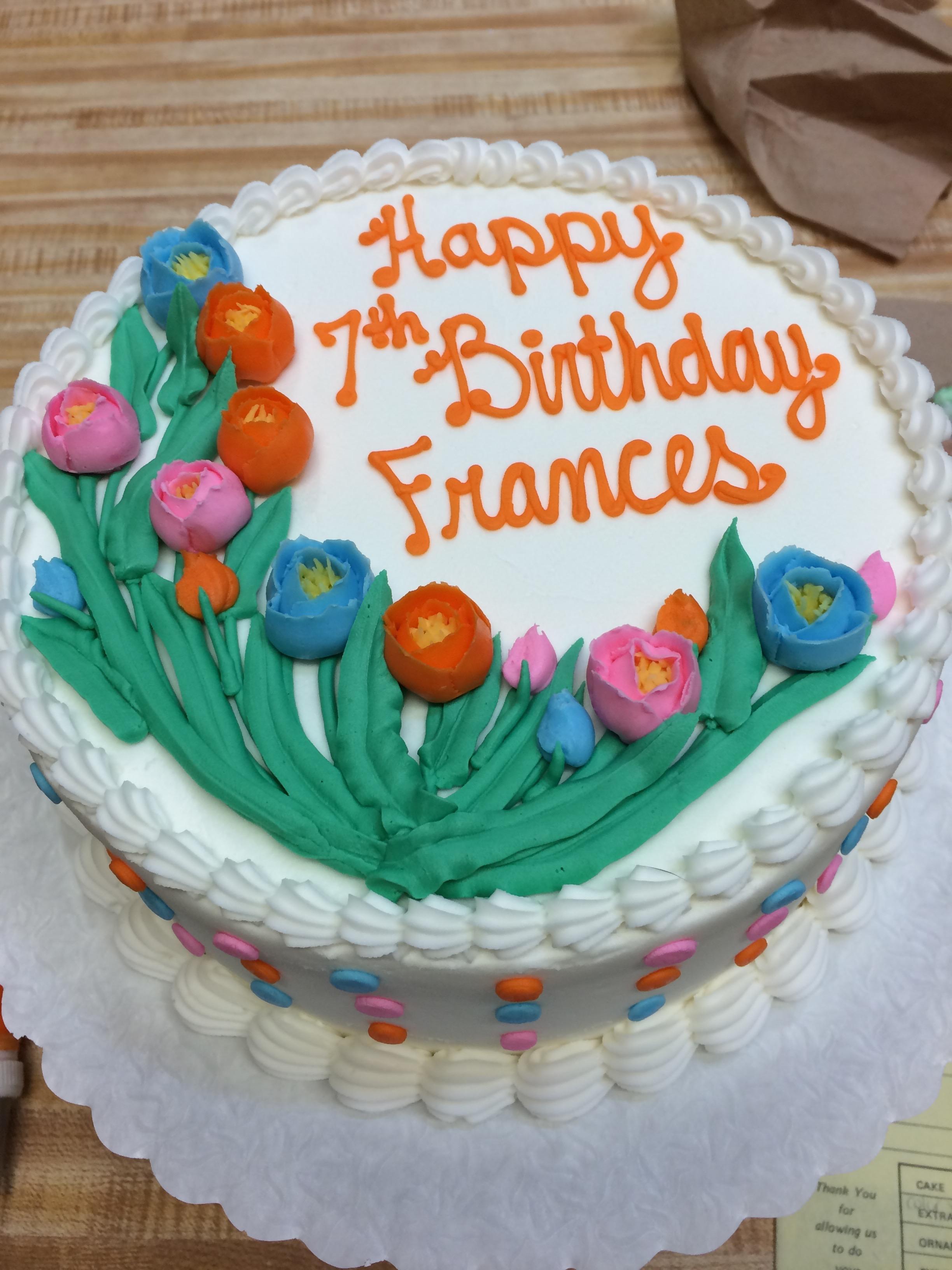 Tremendous Birthday Cakes W Flowers Westhampton Pastry Shop Richmond Va Personalised Birthday Cards Beptaeletsinfo