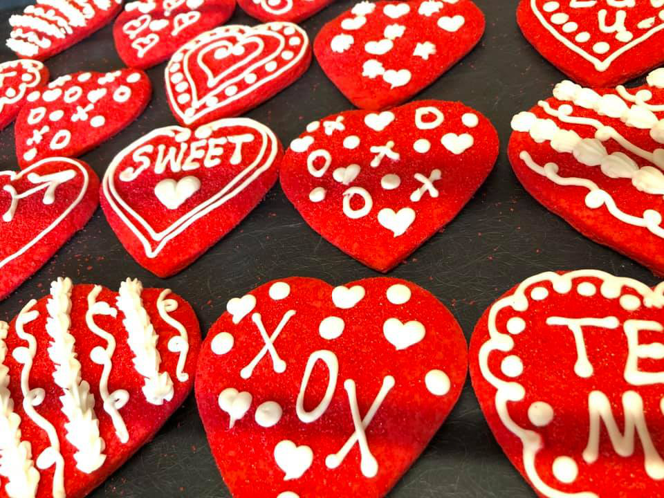 Red Heart Cookies 1