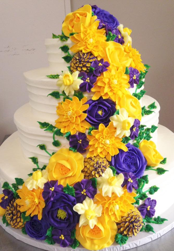 Fine Textured Lines w/ yellow purple