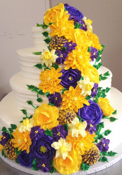 Fine Textured Lines w/ yellow purple