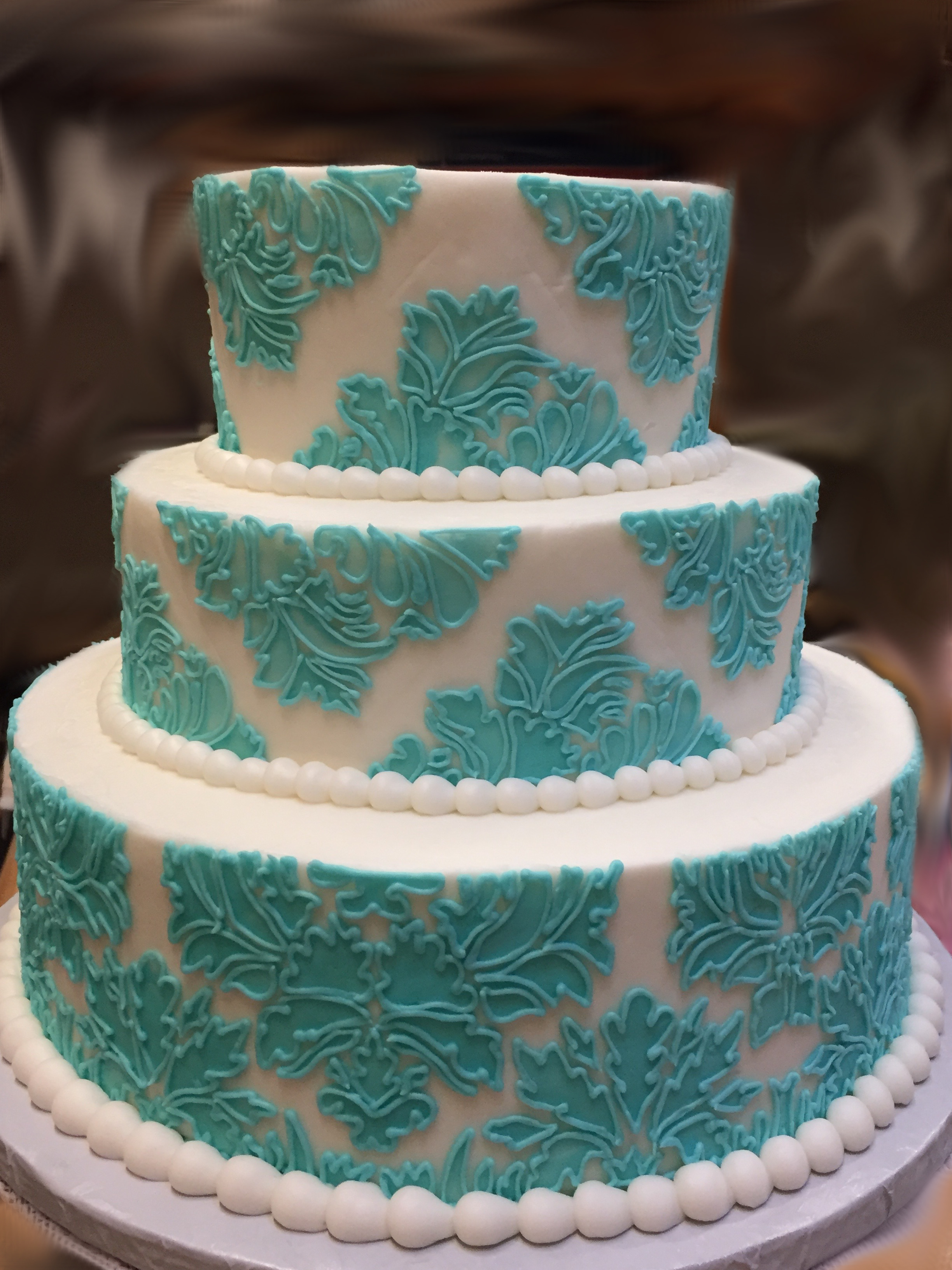 Blue Damascus Cake 7