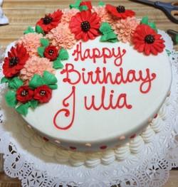 Red Sunflower cake 31