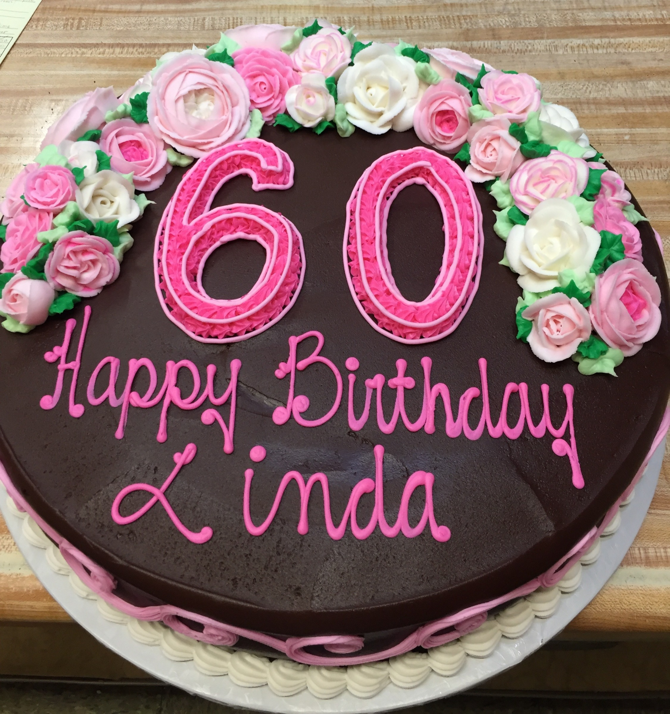 Chocolate Iced 60th Cake 23