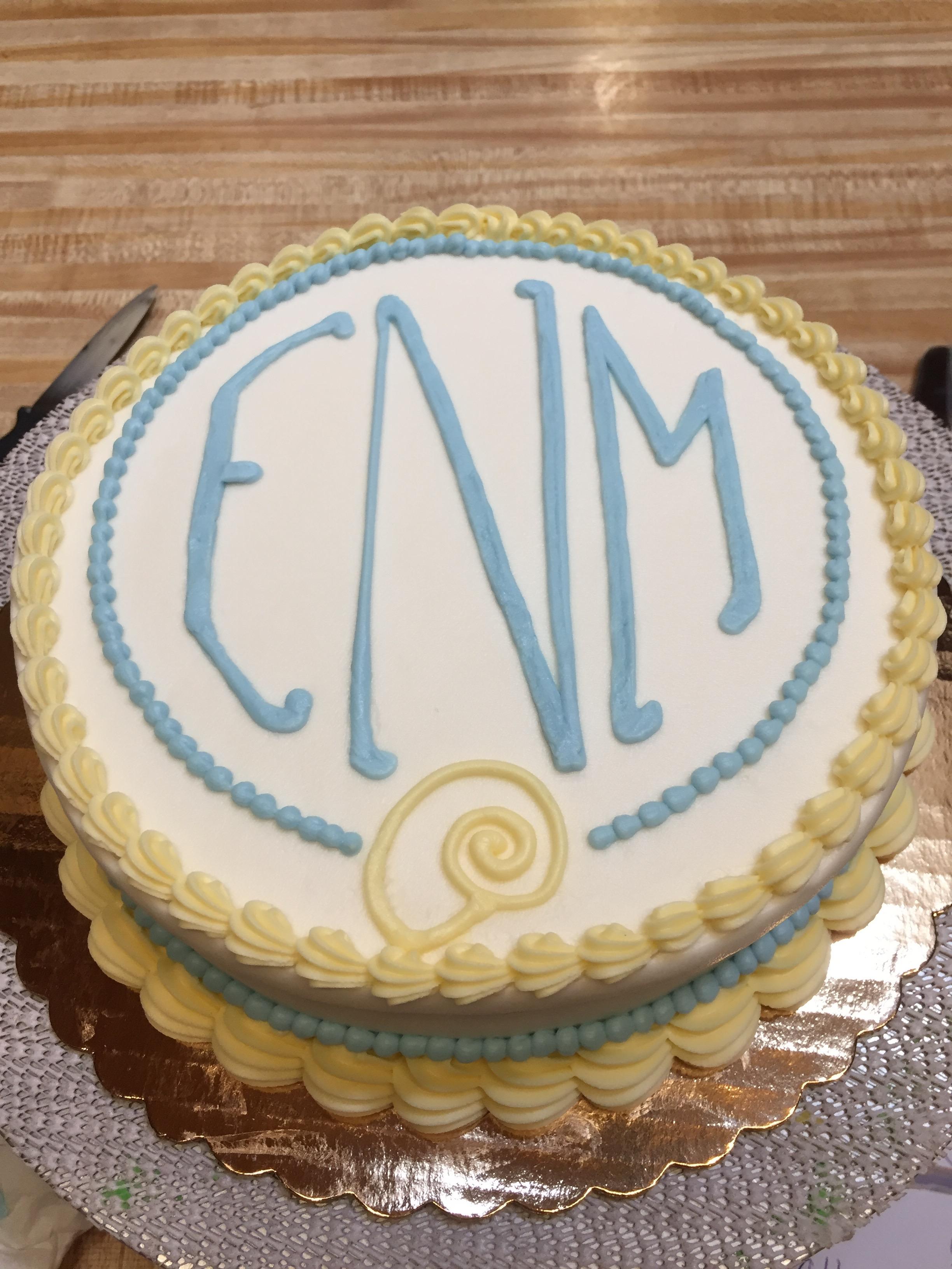 Monogram Cake 30