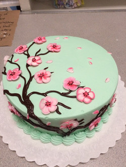 Green Cherry Blossom Cake 51