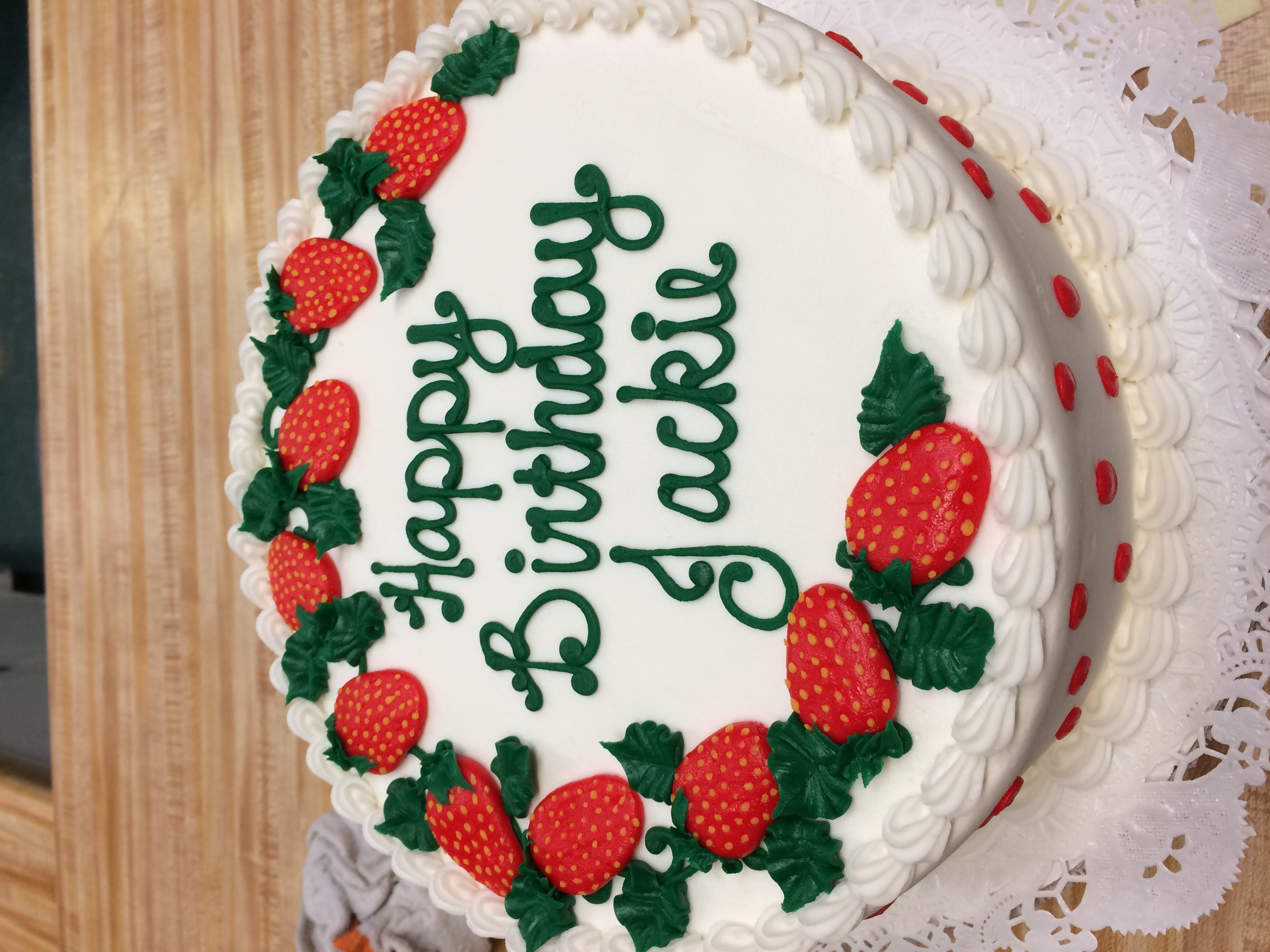 Buttercream Strawberry Cake 81