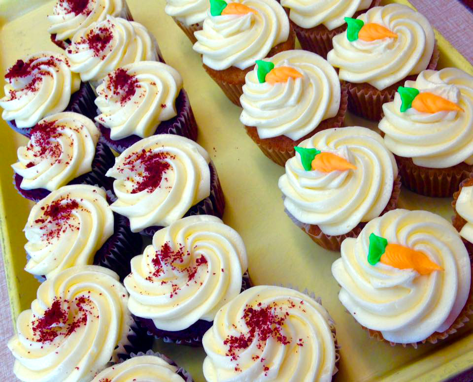 Red Velvet & Carrot Cake Cupcakes 1