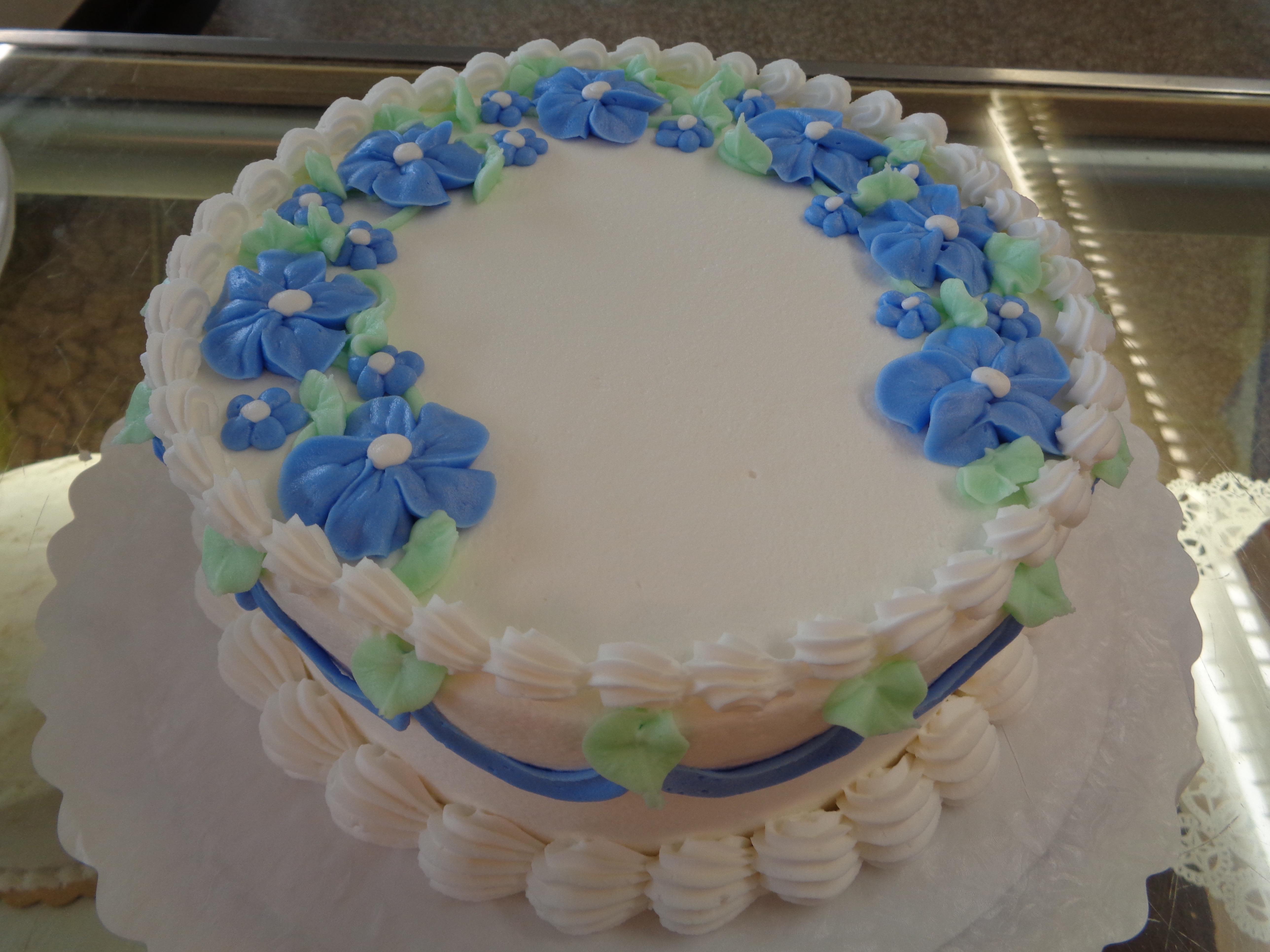 Blue Flat Flowers 43