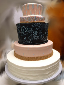 Pink Chalkboard Cake