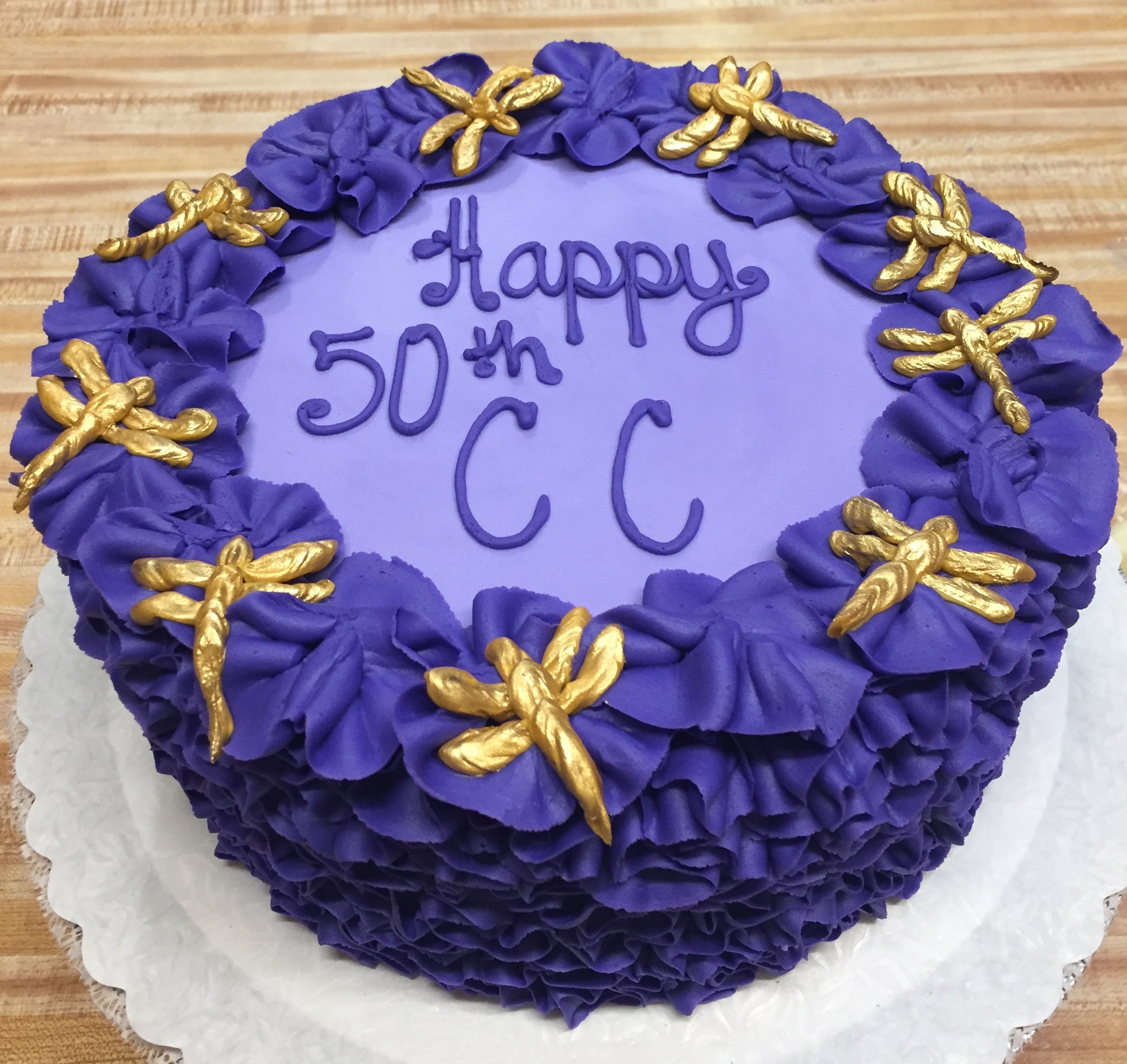 Purple Dragon Fly Cake 13