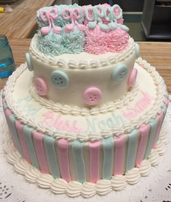 Pink and Blue Bootie Cake 10