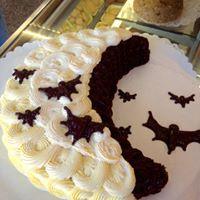 Half Moon Halloween Cake