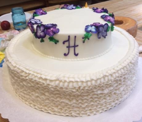 Ruffled W/ Purple Hydrangea