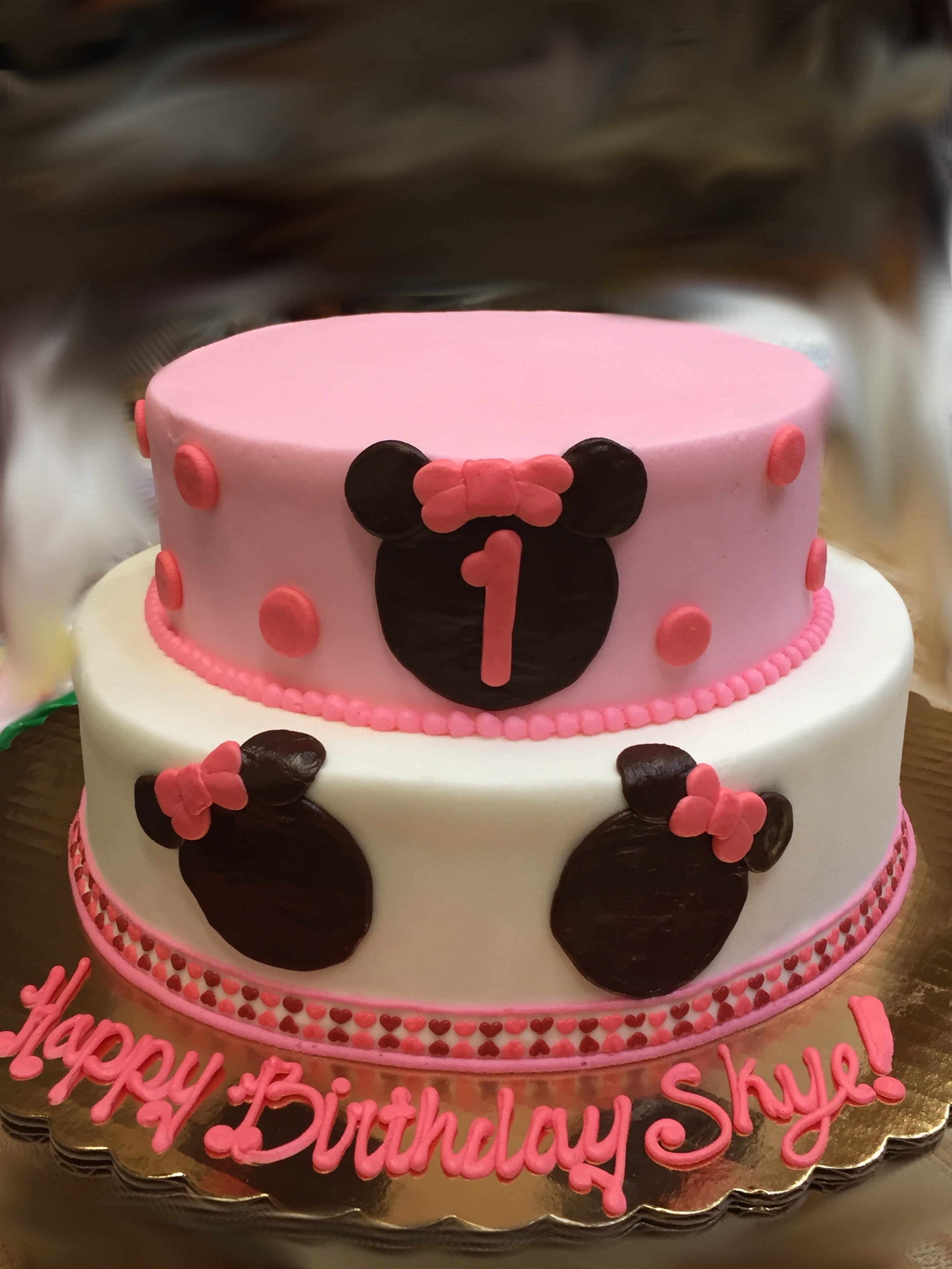 Girl Mouse Birthday Cake 48