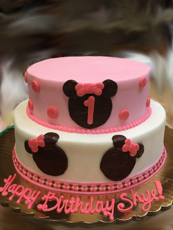 Girl Mouse Birthday Cake 48
