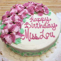 Pink toned Lilly Cake 28