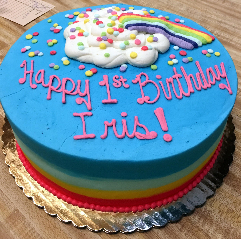 Rainbow Ombre Cake 57