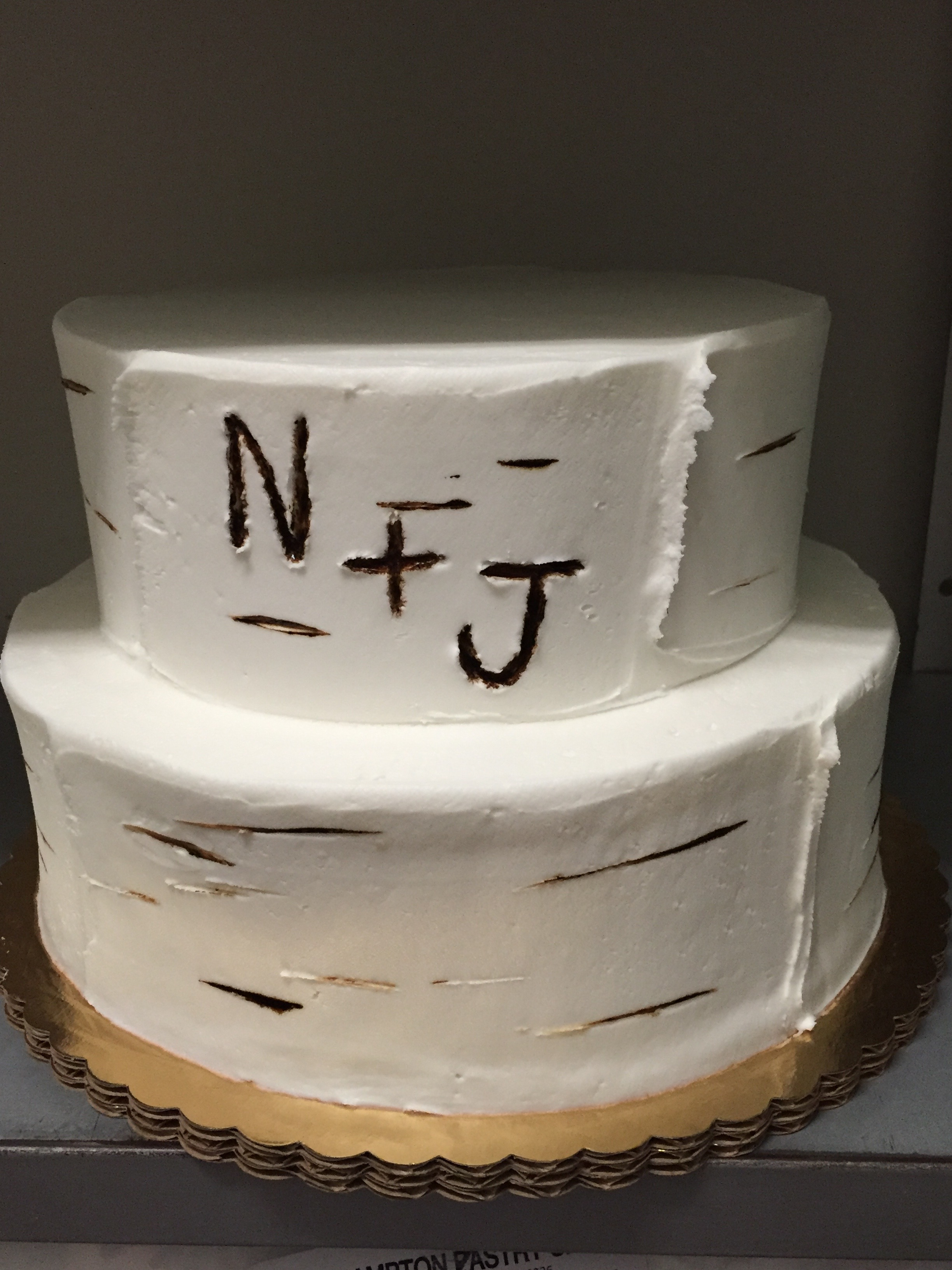 Initials in Tree Cake