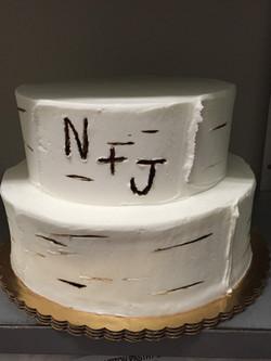Initials in Tree Cake