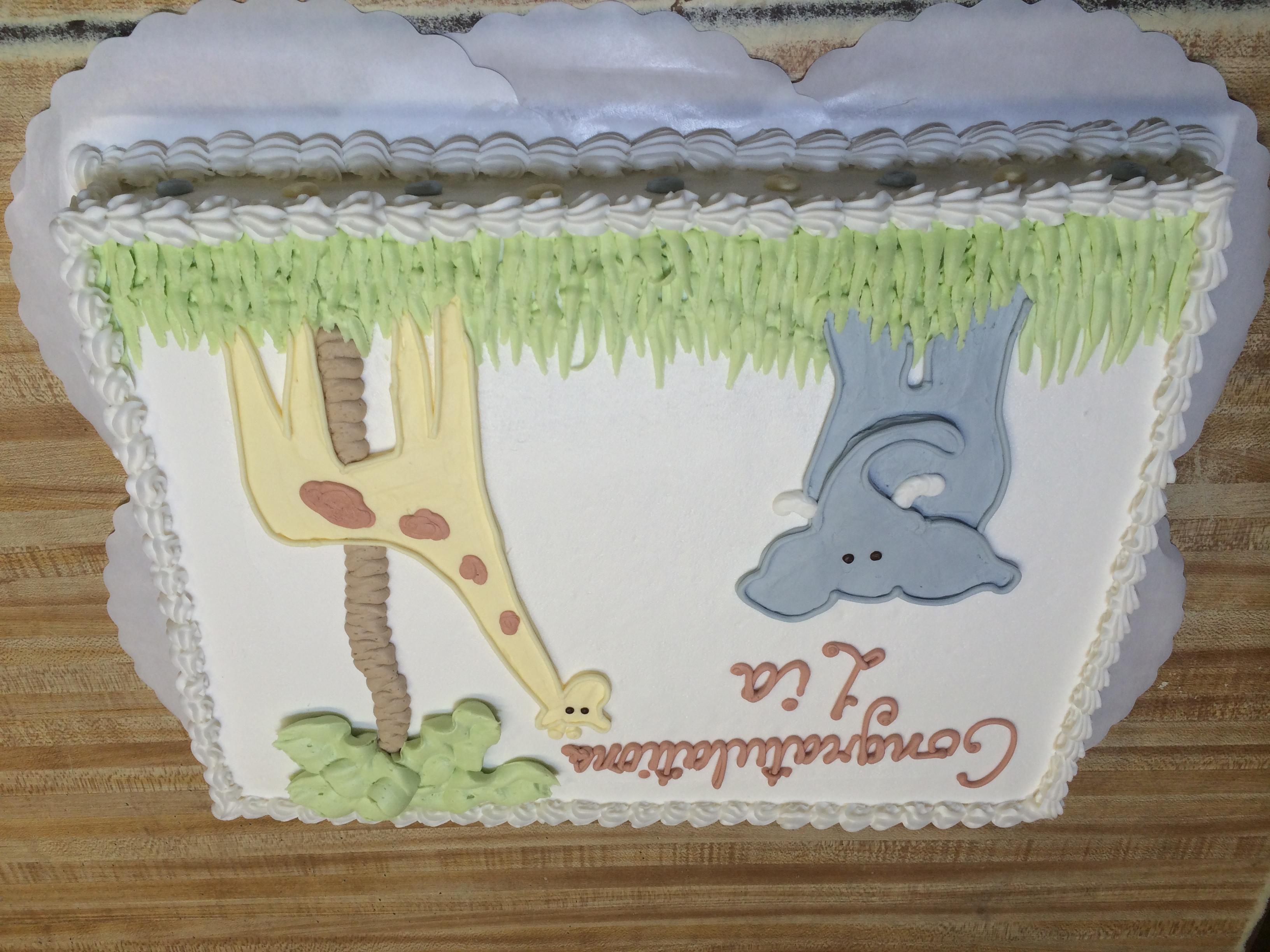 Elephant Giraffe Cake 19