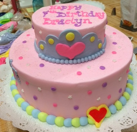 Colorful Light Pink Tier Cake 70