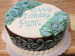 Combo Cake w/ Blue Flowers 11