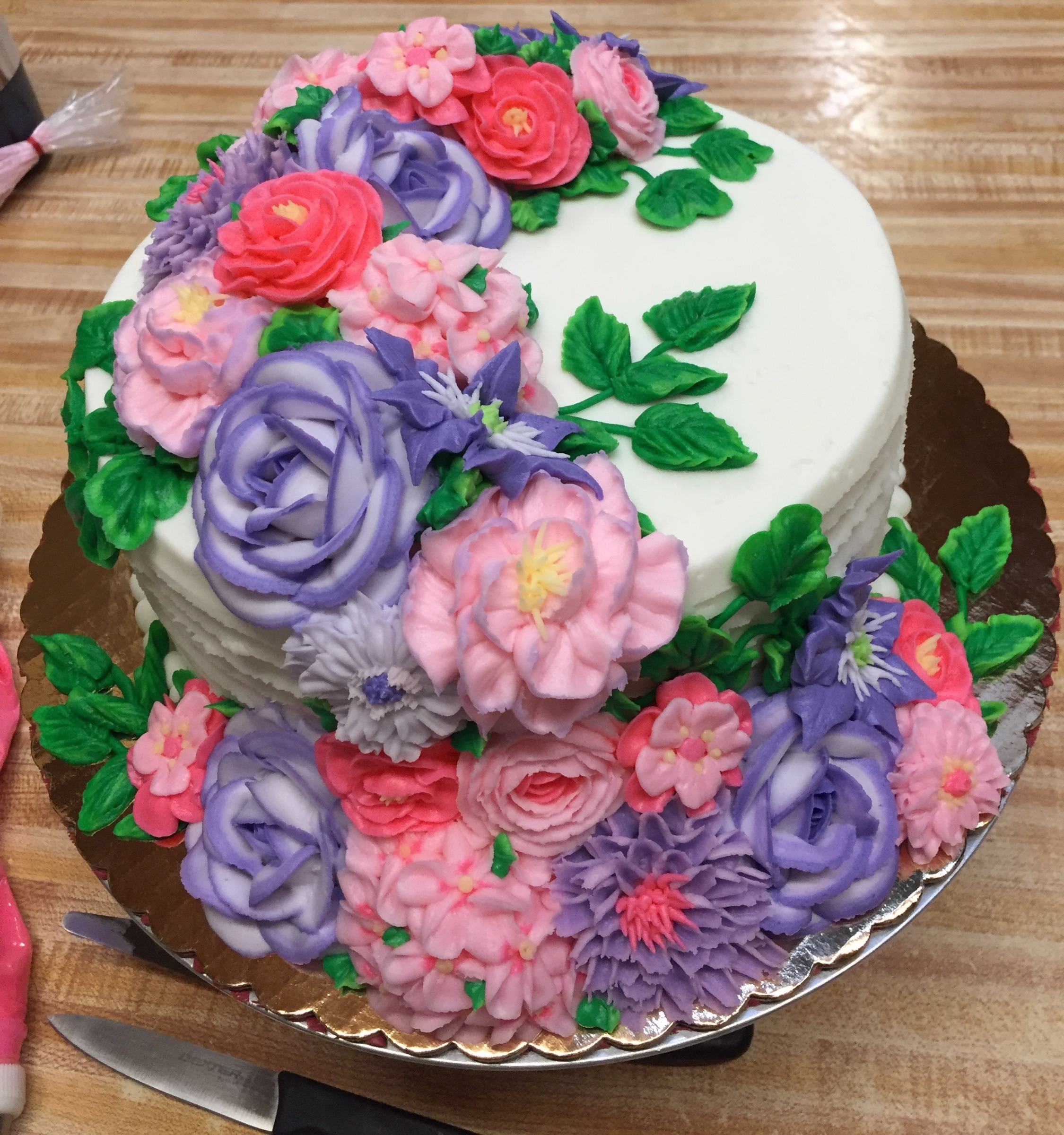 Cascade covered cake 9