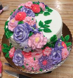 Cascade covered cake 9