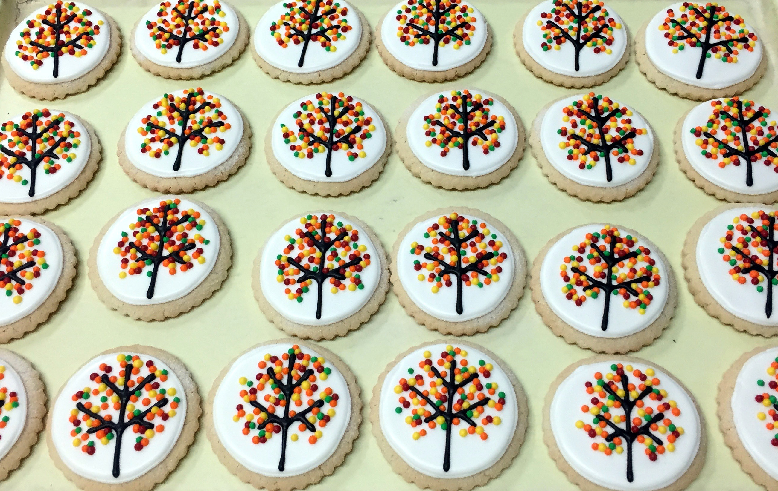 Fall Tree Cookies 1