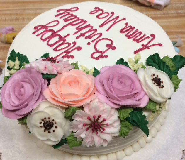 Birthday Cake w_ Flowers 14