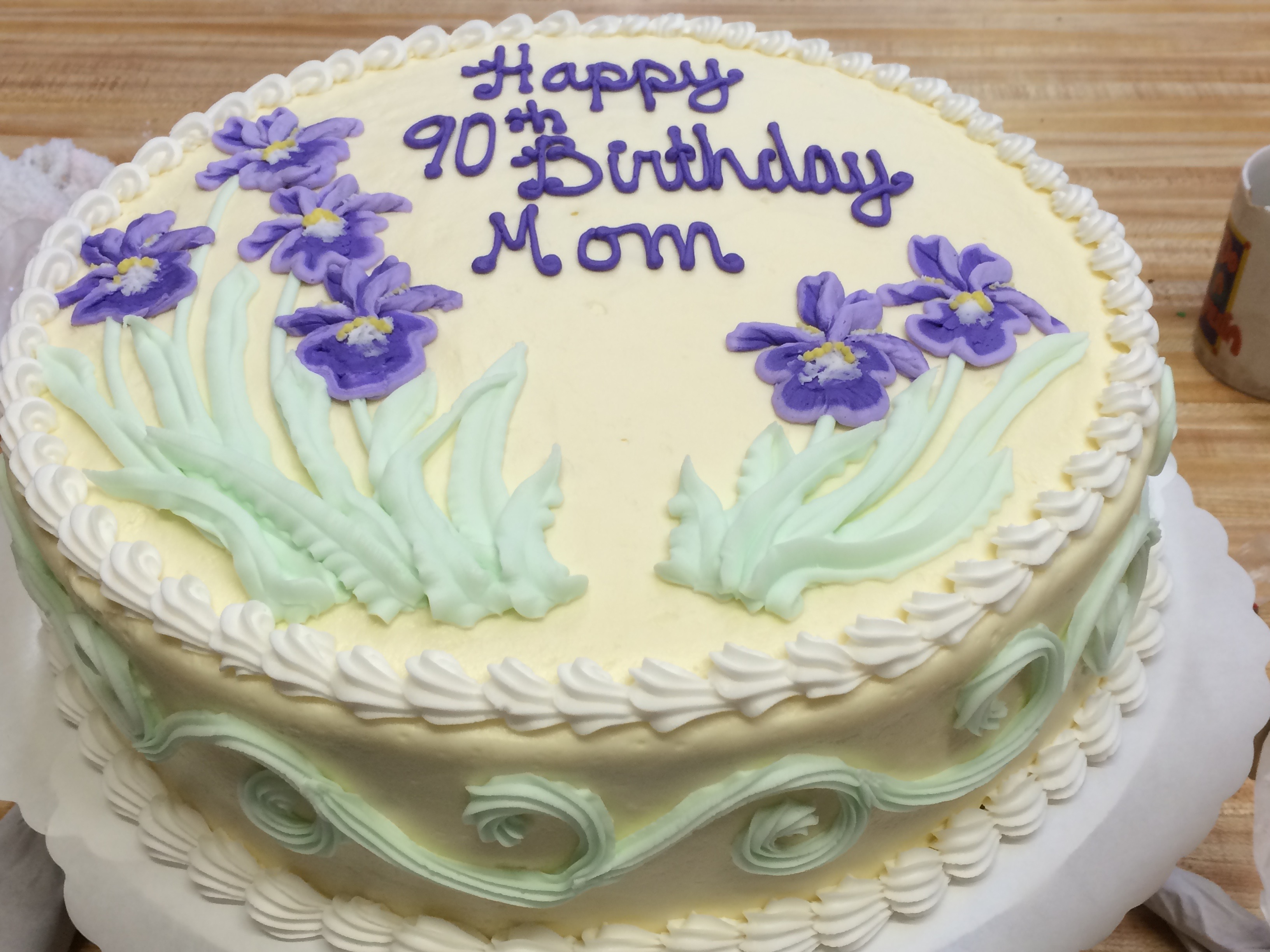 Birthday cake w/ purple Lilies 20