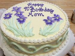 Birthday cake w/ purple Lilies 20