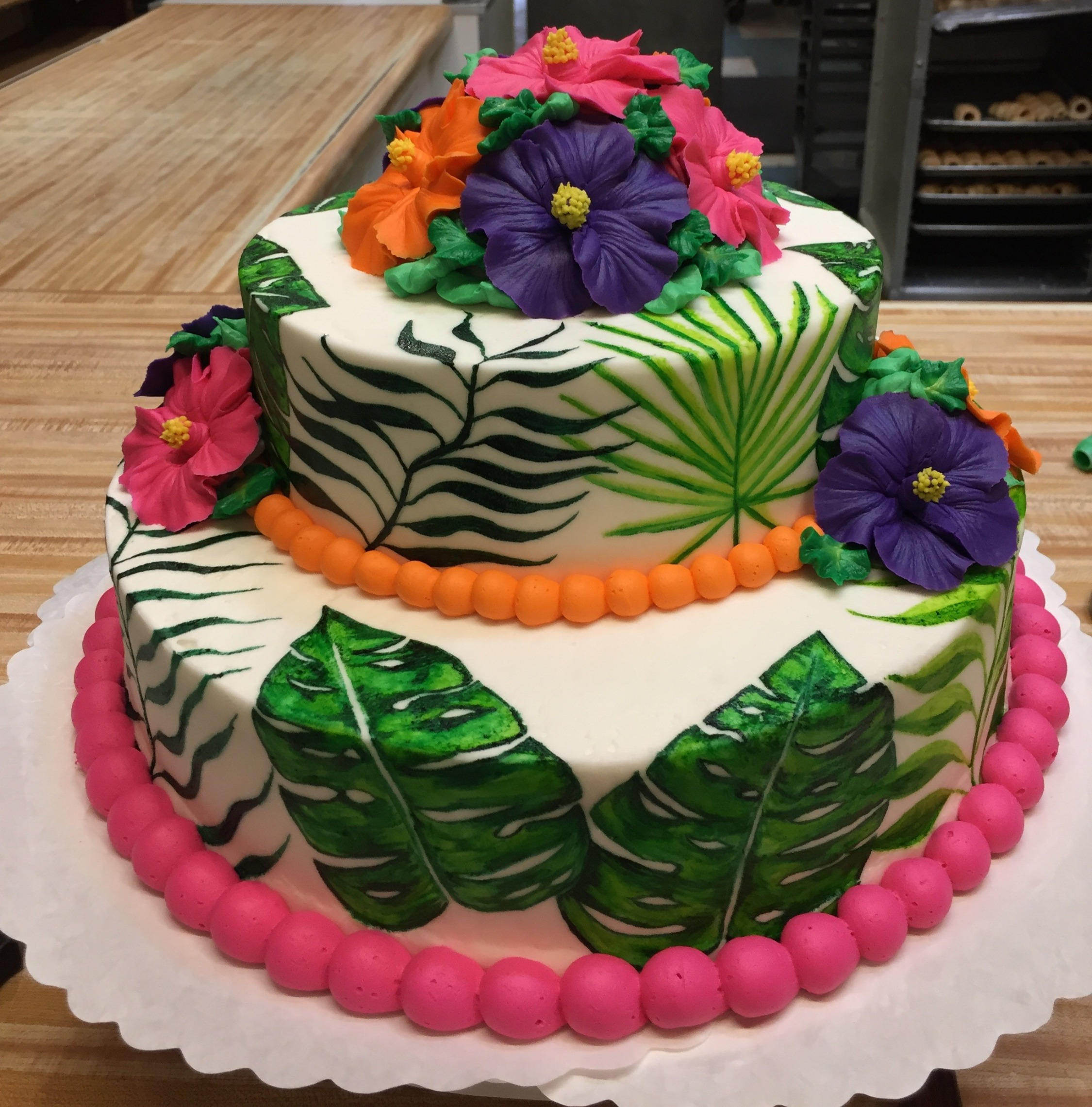 Painted Palm Cake 14