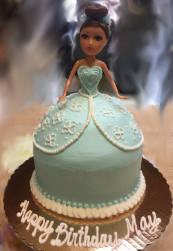 Barbie Cake Blue Dress 74