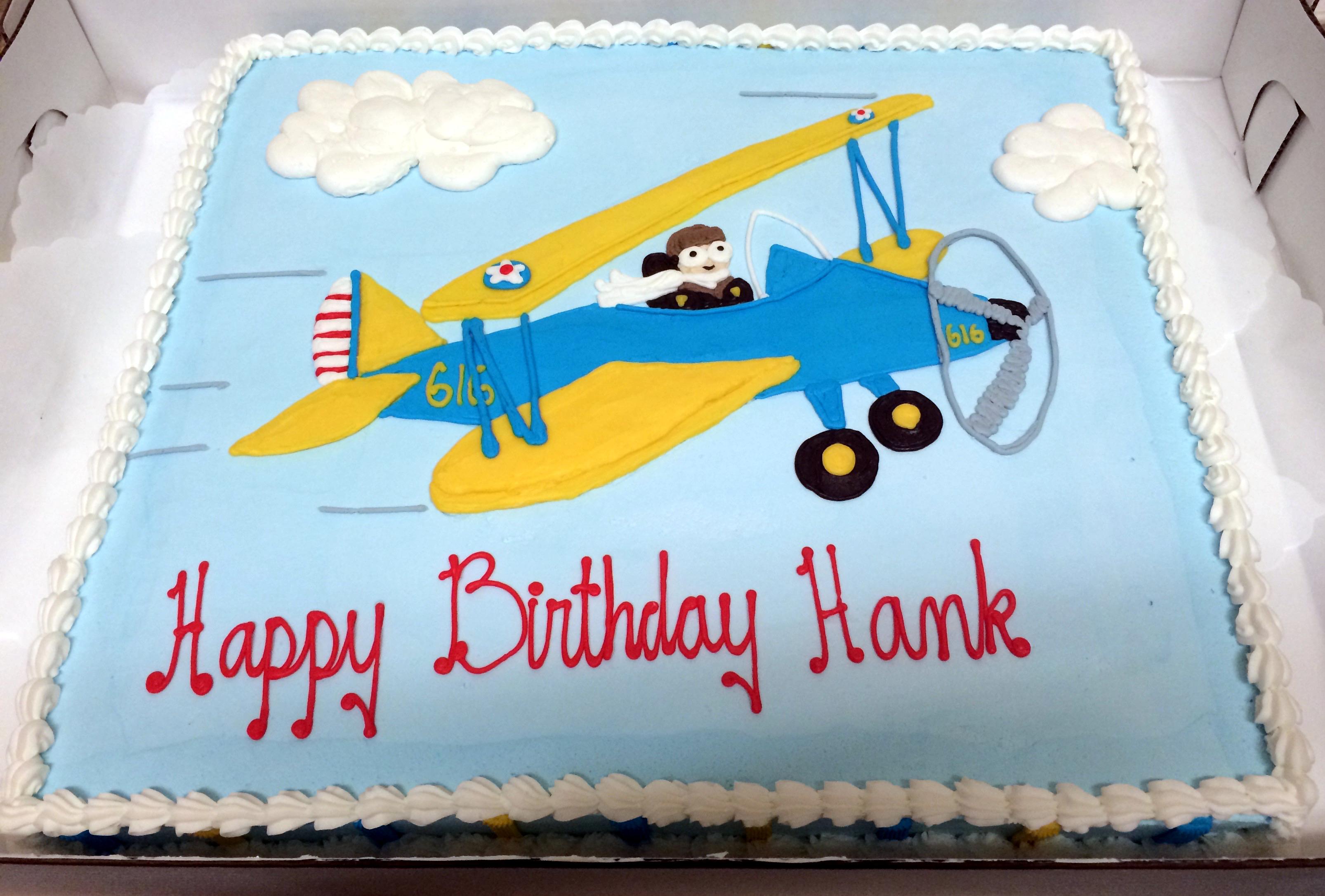 Prop Plane Birthday Cake 50