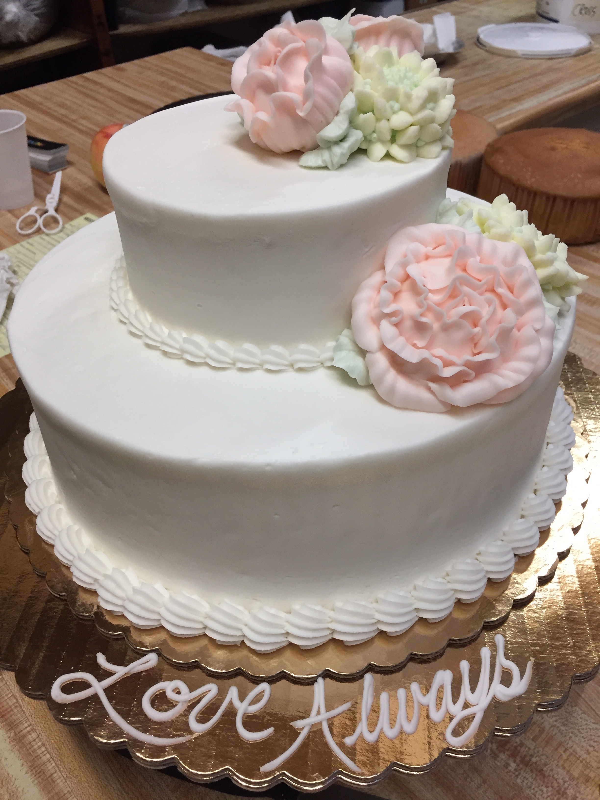 Love Awaits Elegant Simple Cake