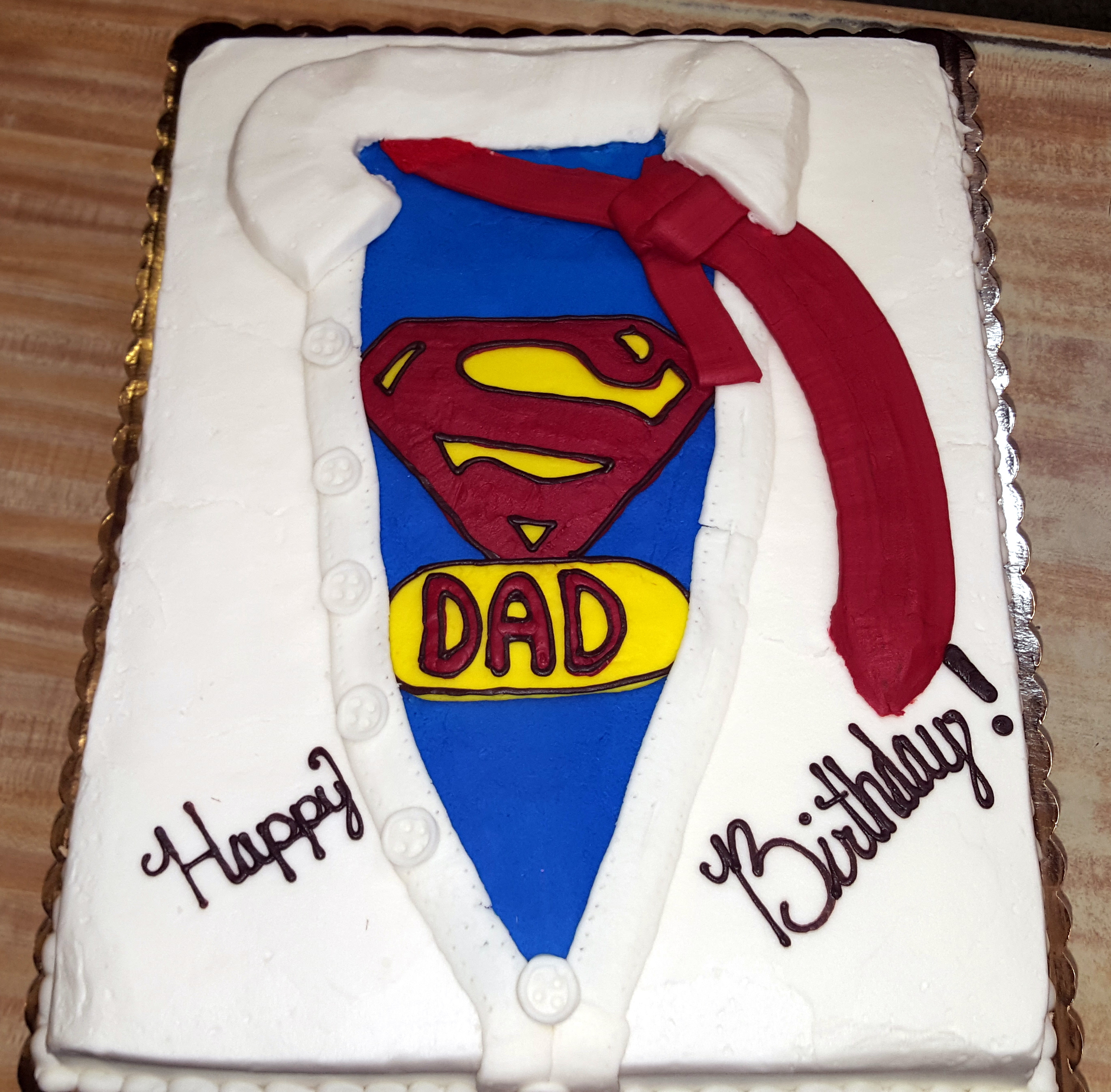 SuperDad Birthday Cake 39