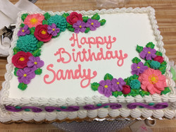 Sheet Cake w/ Flowers 22